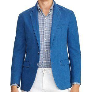 Polo Ralph Lauren Mens Sportscoat Blue Seersuck Mo